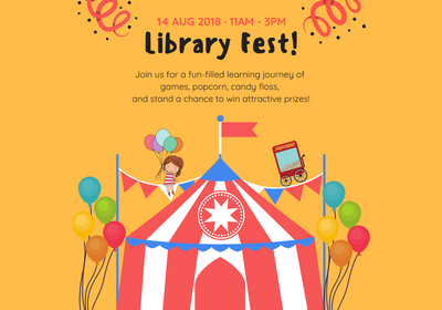 Hop over to the library on Tuesday, 14th August 2018, from 11am to 3pm, for games, challenges and other exciting activities!