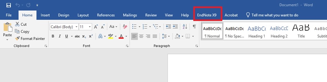 MS Word Endnote plugin